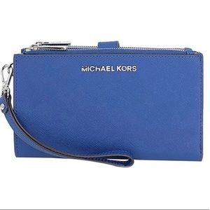 Michael Kors NEW Jet Set Sapphire wristlet